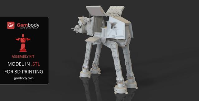 AT-AT walker for 3d printing