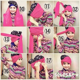 Kreasi Hijab Segi Empat Pesta