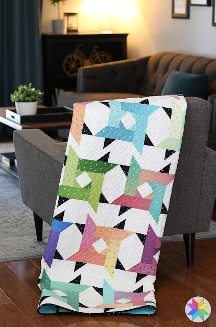 Windy City quilt pattern by Andy of A Bright Corner - a jelly roll friendly pattern in four sizes and looks great in ombre fabrics