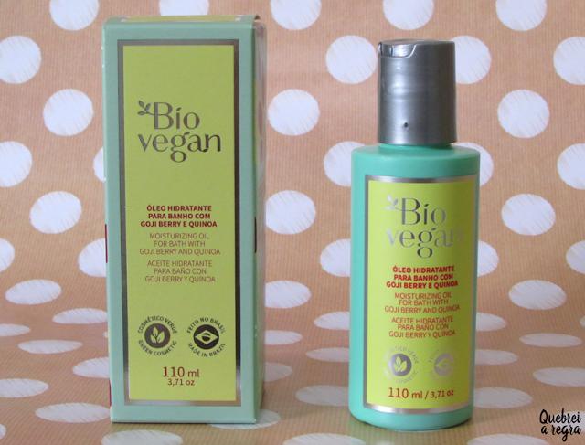 Óleo Hidratante para Banho com Goiji Berry e Quinoa da Bio Vegan