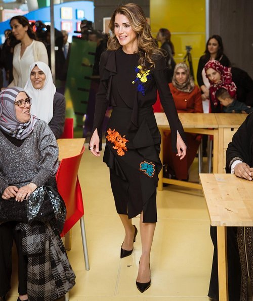 Queen Rania attended the official launch of 'Karim and Jana' a free mobile application developed by the QRF