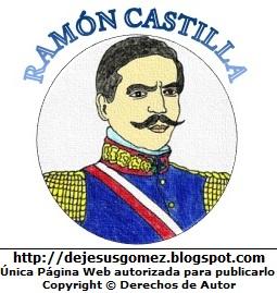 Dibujo de Ramón Castilla hecho por Jesus Gómez