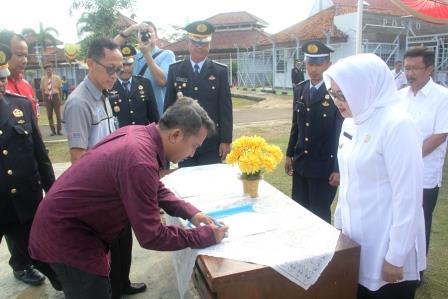 Wabup Pimpin Upacara Hari Bhakti Pemasyarakatan ke 52 di Lapas Subang