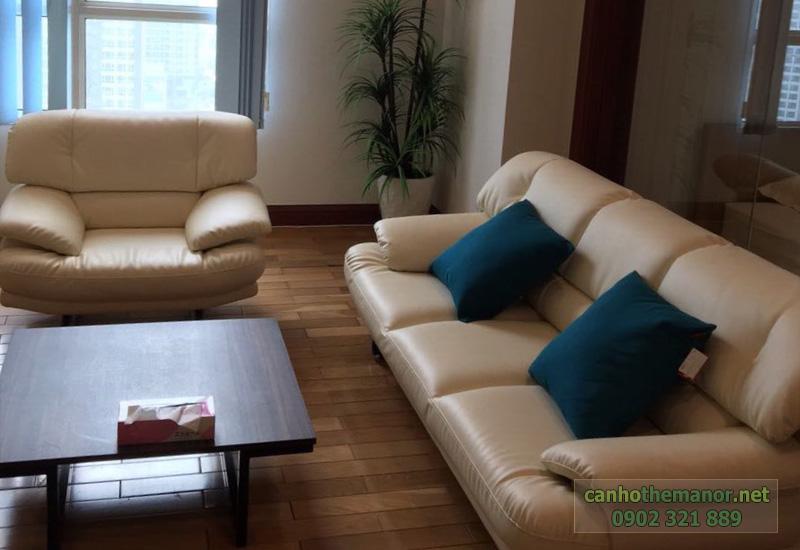 The Manor 2 HCM - bộ sofa màu kem