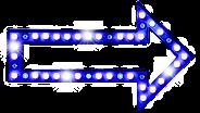 Seta luz azul