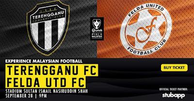 Live Streaming Terengganu vs Felda United Piala Malaysia 28.9.2018