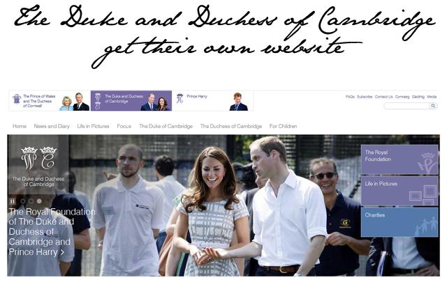 duke duchess cambridge website