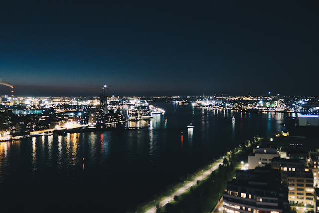 amsterdam night view adam lookout