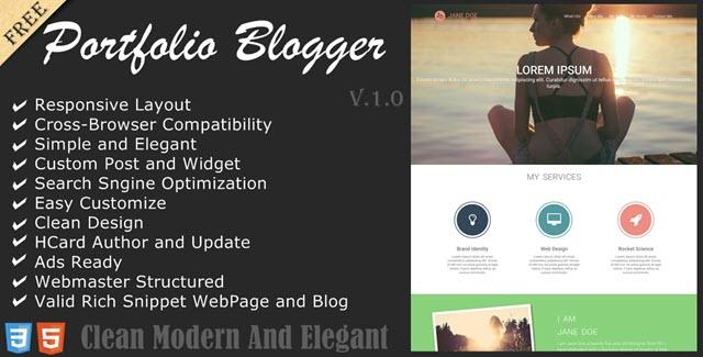 graphista шаблон для одностраничных сайтов blogger
