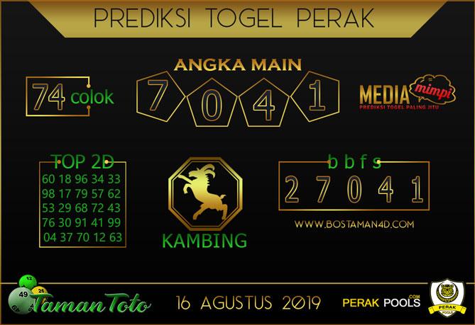 Prediksi Togel PERAK TAMAN TOTO 16 AGUSTUS 2019