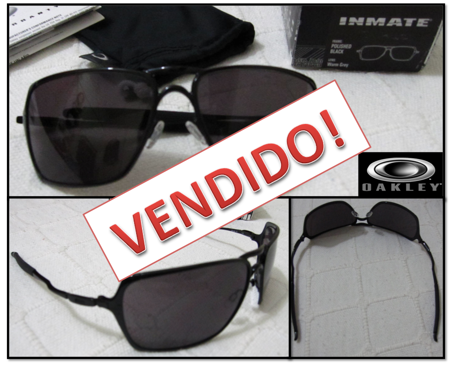 5c75e26d556e6 Oakley Inmate óculos De Sol Polished Gold Dark Grey