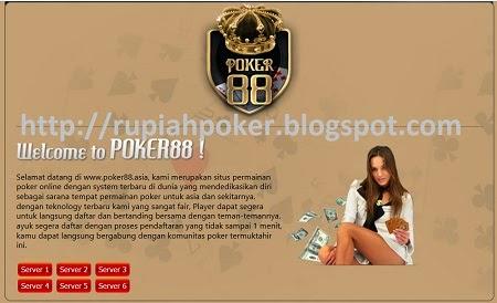 Rupiah Poker Poker88 Asia Agen Texas Poker Terpercaya