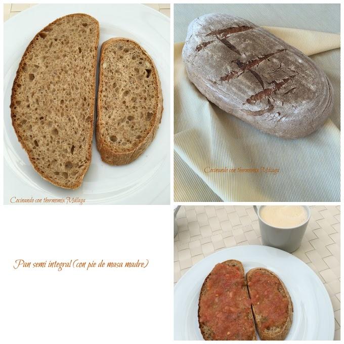 Pan semi integral (con pie de masa madre)