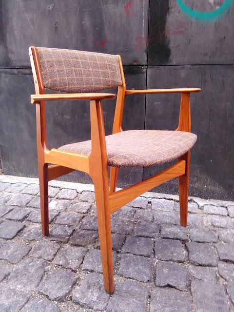cadeira, vintage, nórdica