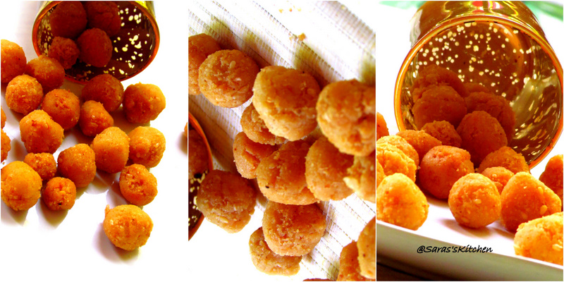 Uppu seedai or rice crisp balls