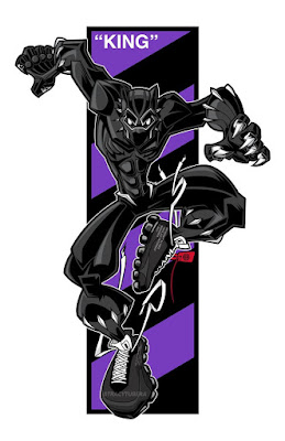 "Black Panther ""All Hail The King"" Marvel Print by Tracy Tubera"