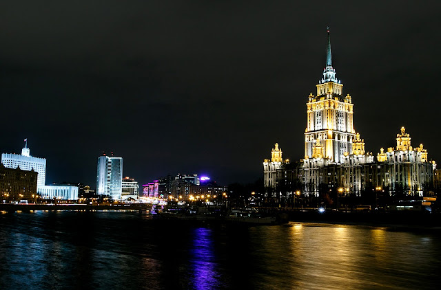 Moscow river night