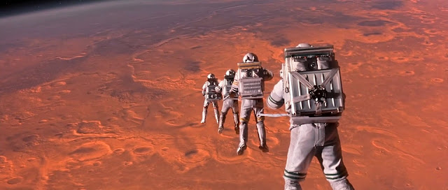 Astronauts in Mars orbit - Mission to Mars movie image