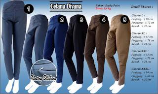Celana kerja wanita model pensil - Skinny pants
