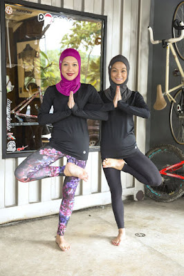 baju fitness hijab mans dan menjaga keseksian