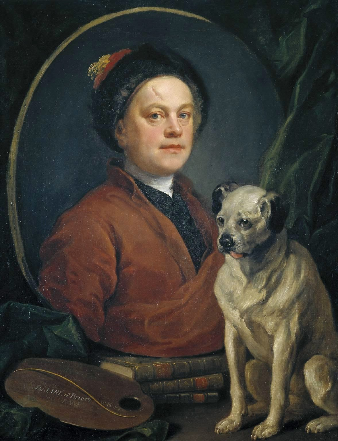 he Painter and His Pug by William Hogarth