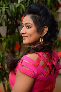 Ashmita in Pink Top At Om Namo Venkatesaya Press MeetAt Om Namo Venkatesaya Press Meet (17).JPG
