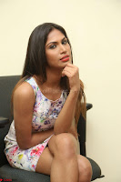 Nishi Ganda stunning cute in Flower Print short dress at Tick Tack Movie Press Meet March 2017 127.JPG