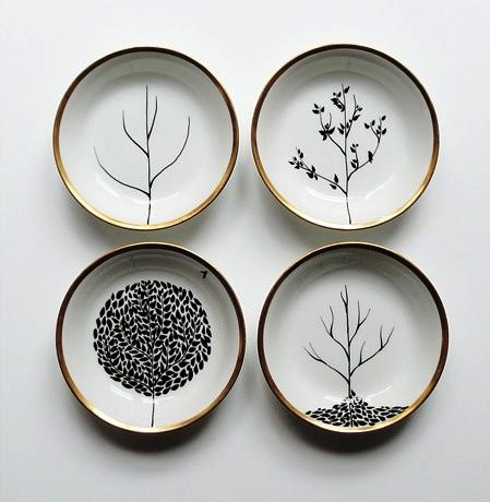 El rinc n vintage de karmela aprende a decorar platos de cer mica con rotuladores - Platos ceramica colores ...