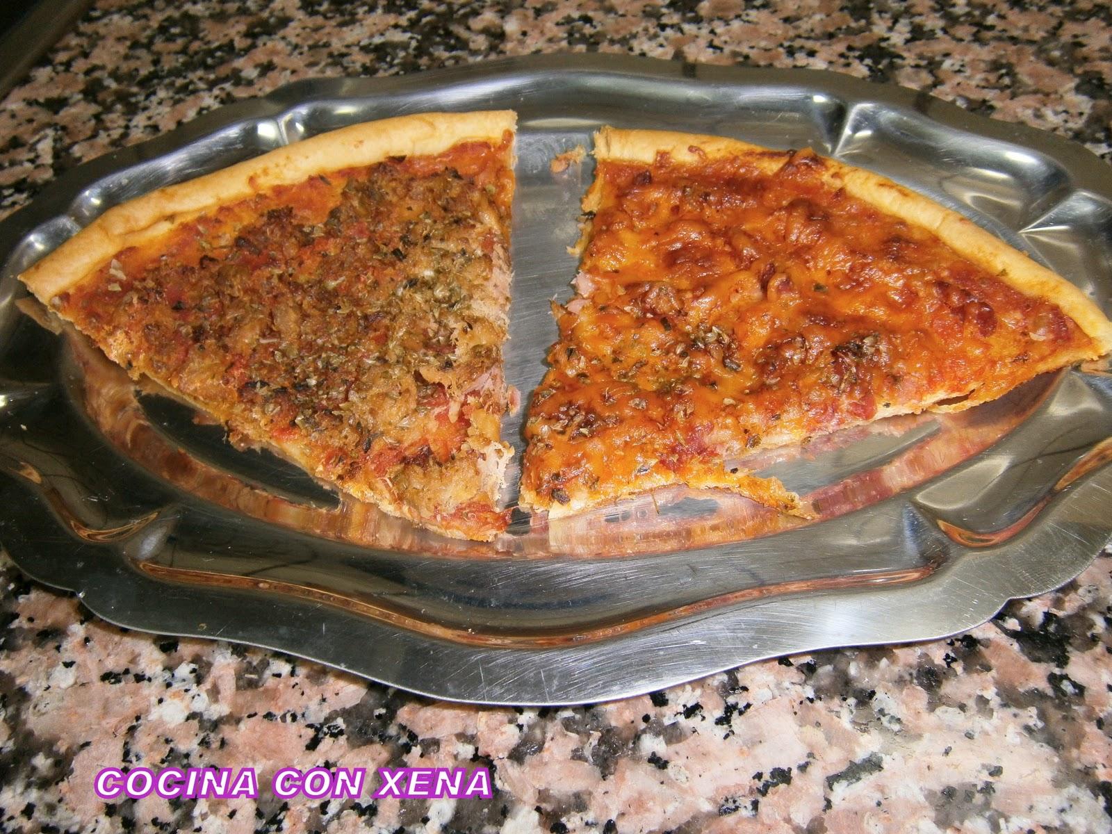 COCINA CON XENA Pizza con masa quebrada