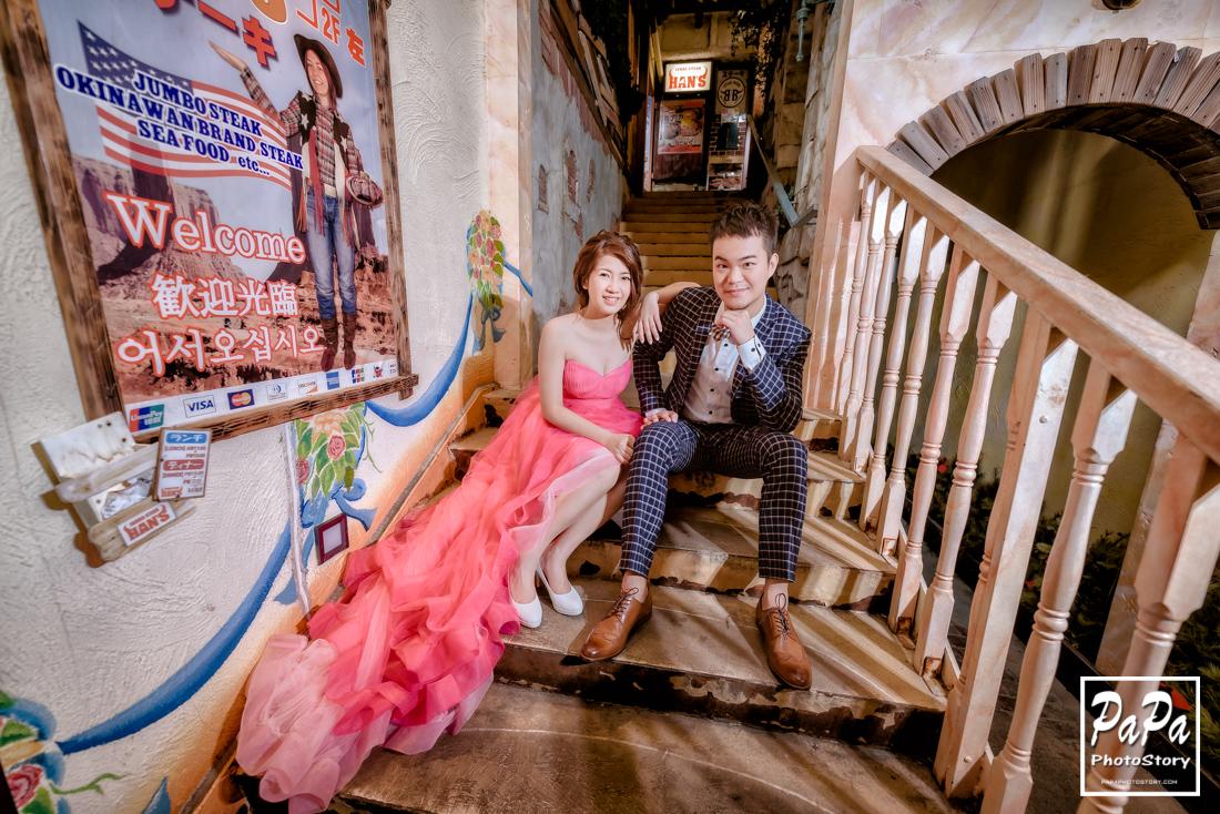PAPA-PHOTO 沖繩自助婚紗,美國村,勝連城跡,伊計島,ESTINATE HOTEL,海中道路