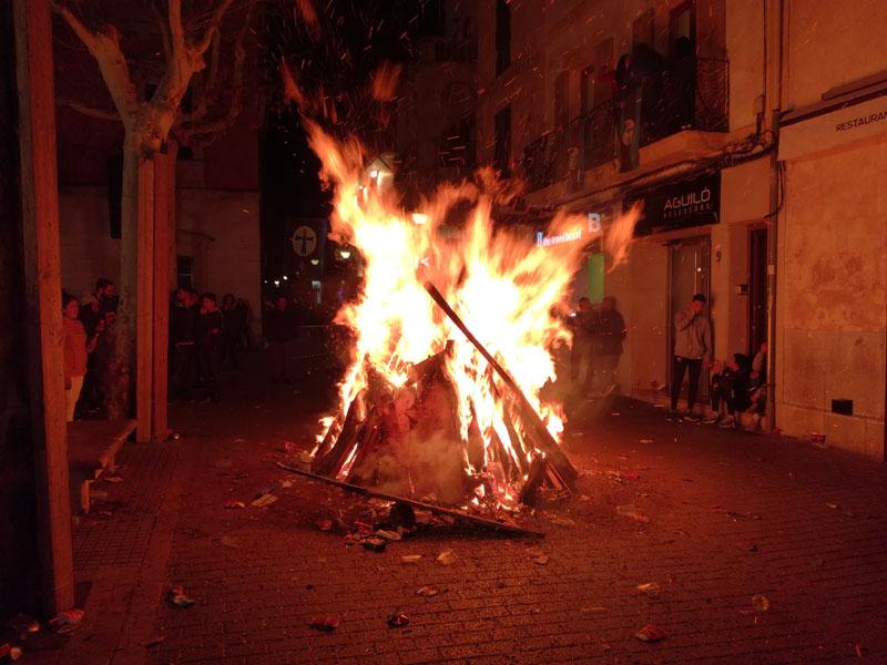 I fuochi per festeggiare Sant Antoni