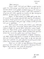 El yazısıyla anneye yazılmış imzalı bir mektup örneği