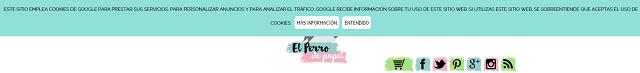 Personalizar barra de cookies de El Perro de Papel