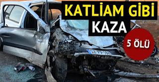 Gaziantepte korkunç kaza 5 ölü