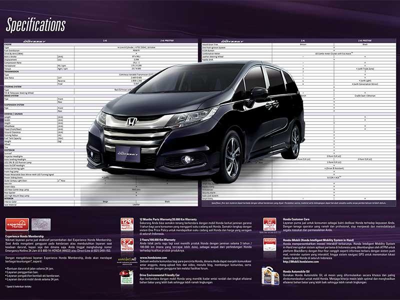 Spesifikasi Mobil Honda Odyssey