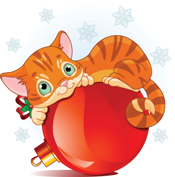 Orange Holiday Cat Icon