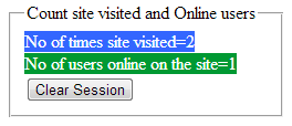 count number of time site visited and online users in asp.net