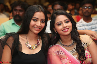 Geethanjali and Swetha Basu at Mixture Potlam Movie Audio Launch Feb 2017 008.JPG