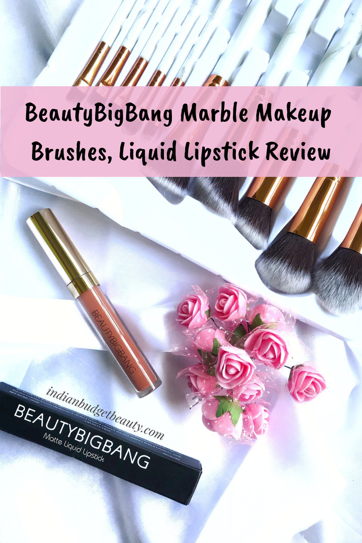 BeautyBigBang Marble Makeup Brushes, Liquid Lipstick Review