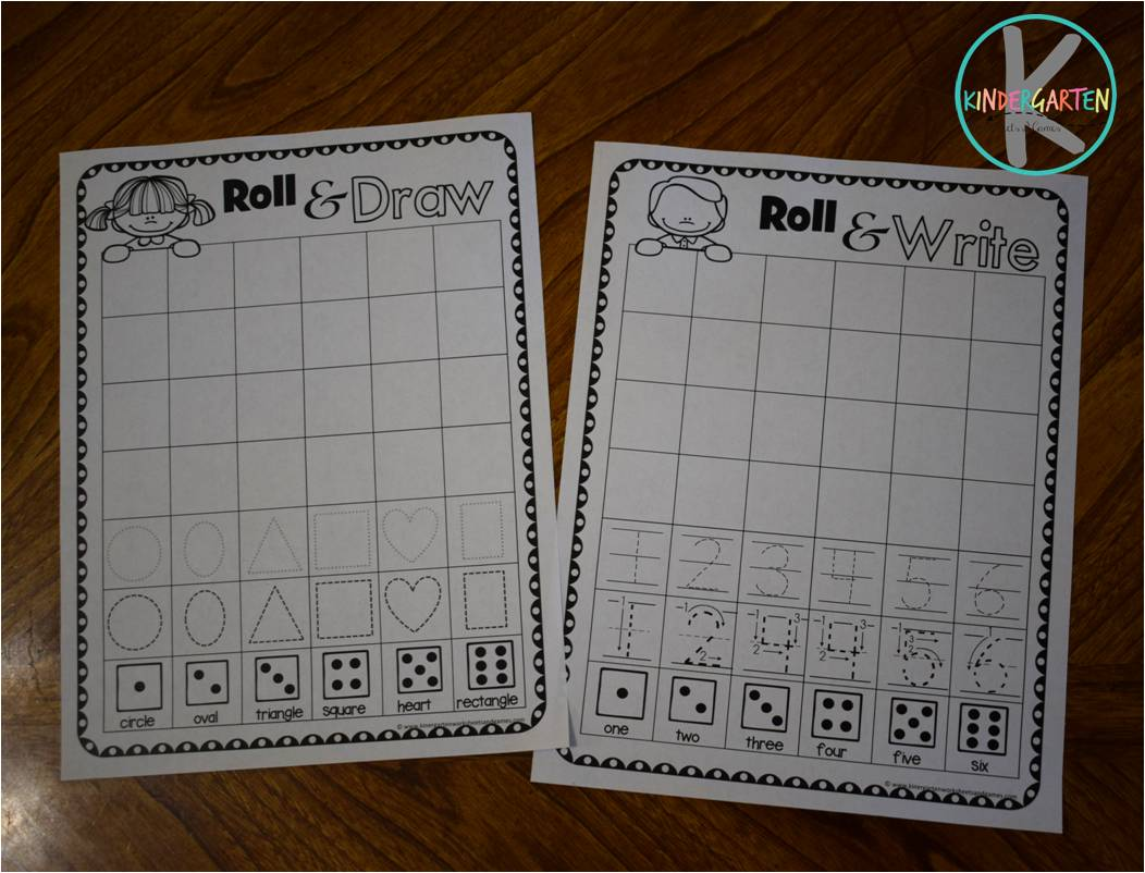 Kindergarten Worksheets And Games Free Roll Amp Learn Kindergarten Worksheets