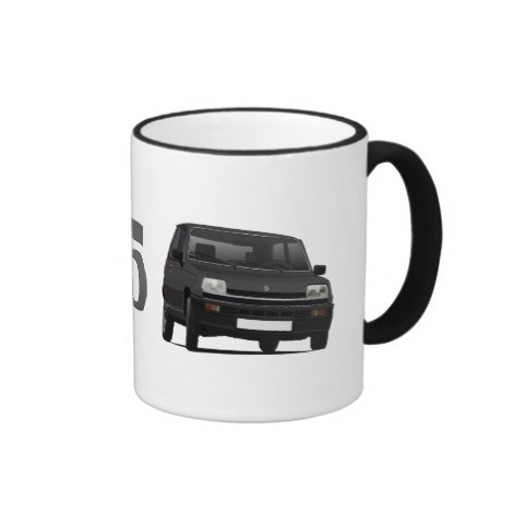 Renault 5 black retro mug