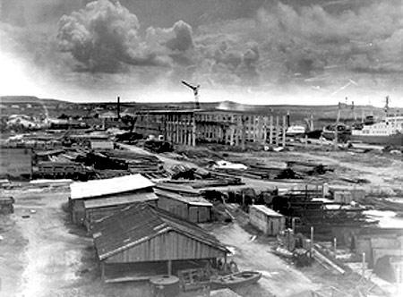 Расширение Керченского морского рыбного порта. 1964 год
