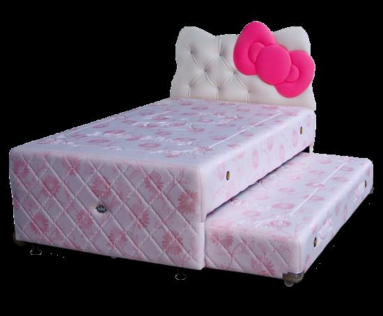 Harga Twin Spring Bed Bigland Hello Kitty Panel Classic di Purwokerto