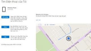 Hướng Dãn Cách tìm lại điện thoại Windows Phone bị đánh mất