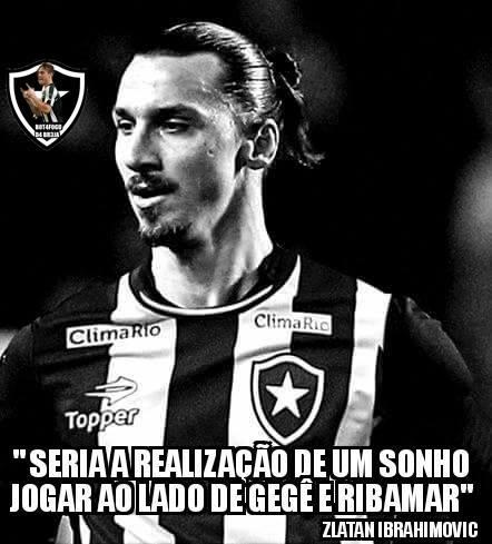 Zlatan Ibrahimovic não aceita ficar no banco e não virá mais para o Botafogo