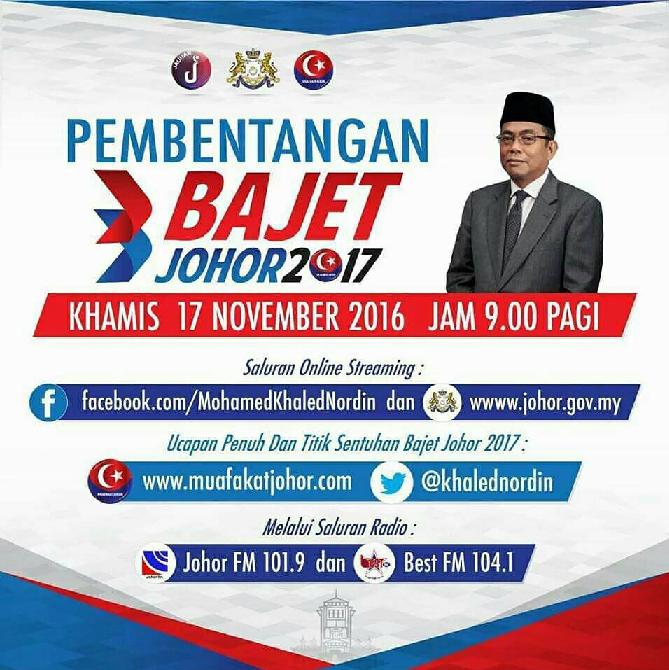 Bajet Johor 2017