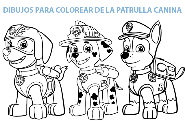 Dibujos Para Colorear La Patrulla Canina Chase Y Marshall Auto