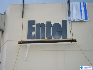 Built Up Metal Signage Installation - Entel Philippines