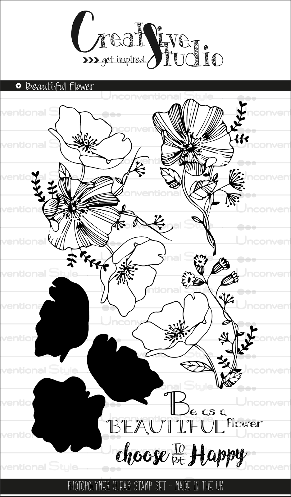 clear stamps -Beautiful Flower