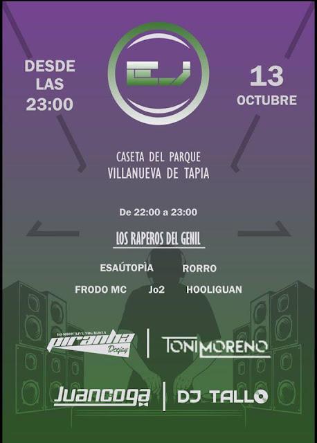 Rap y Dance en Villanueva de Tapia
